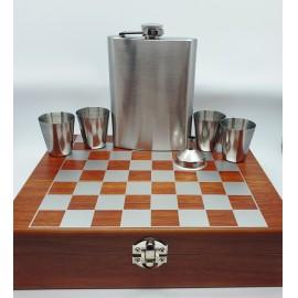 Flaska szett  sakk készlettel