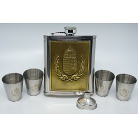 Flaska szett -  Magyar címeres