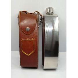 Flaska 28 oz műbőr tokban