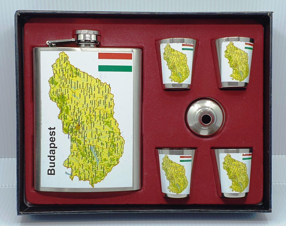 Flaska szett - Magyarország térkép