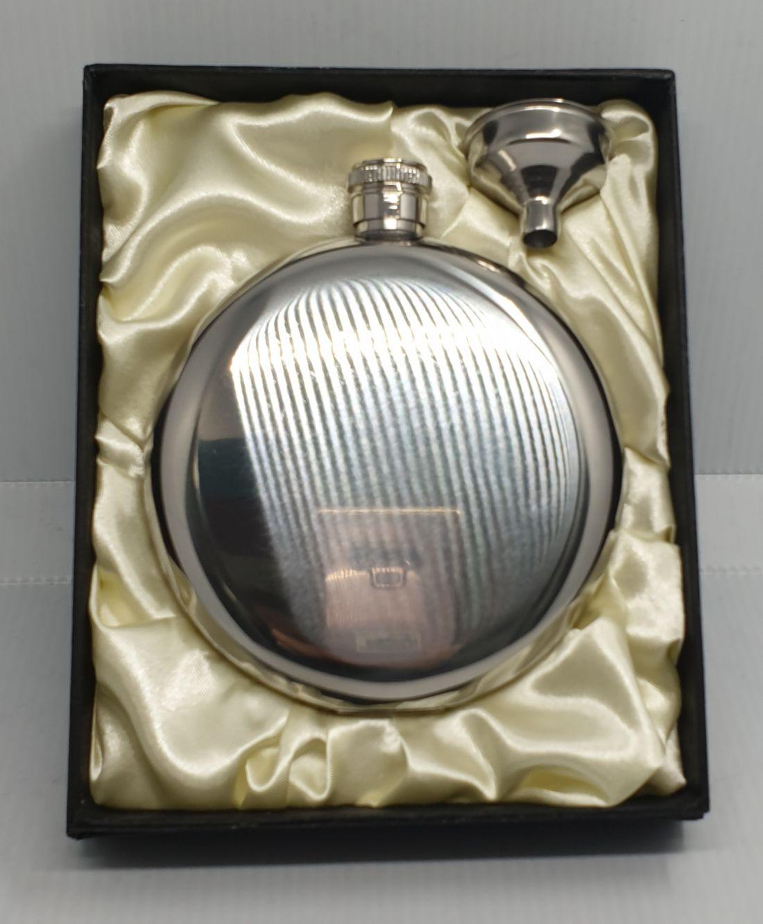 Flaska - kör alakú, díszdobozban