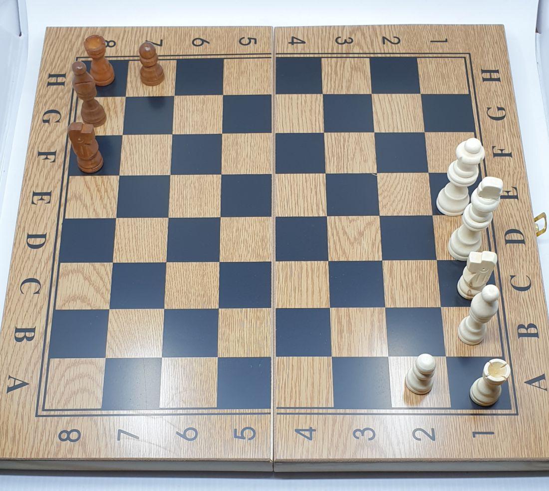Sakk és backgammon készlet - fa